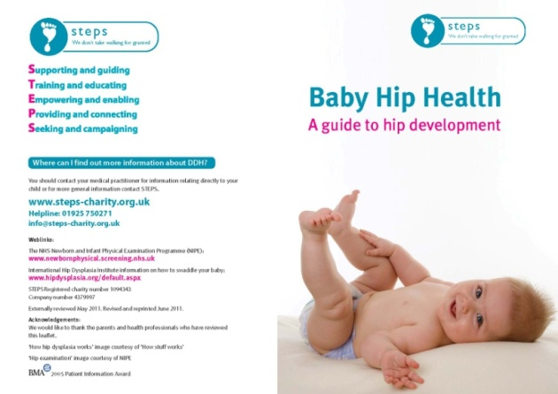 STEPS baby hip health booklet